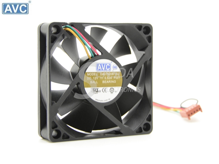 AVC DA075B12U 12V 0.52A 4Wire tempreture PWM Speed cooling fan