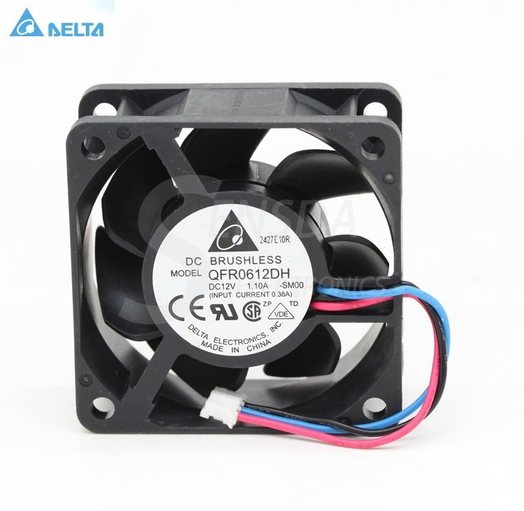 Delta QFR0612DH 60mm 1.1A DC 12V 3-pin  axial cooling fan