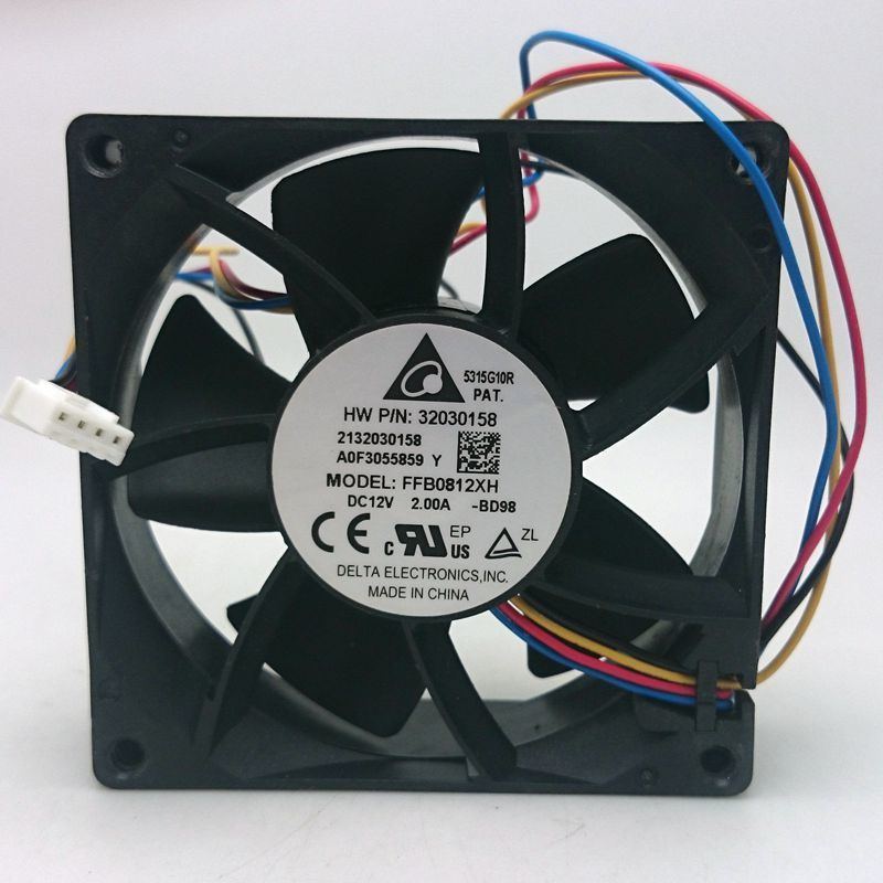 Delta FFB0812XH DC12V 2A 4Lines  Axial Server Cooling Fan
