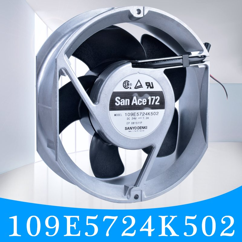 Sanyo 109E5724K502 DC24V 1.30A double ball strong wind volume cooling fan