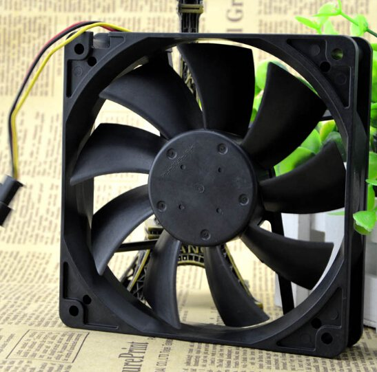 NMB 4710KL-04W-B19 12CM 0.17A 12V 3pin mute professional chassis fan