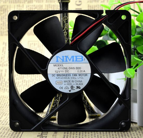 NMB 4710NL-04W-B20  120*120*25 12V 0.20A chassis fan