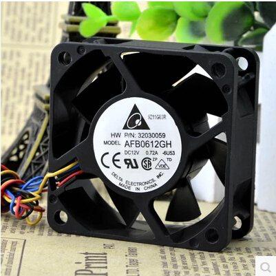 Delta AFB0612GH 6CM  12V 0.72A 4-line PWM  flow fan