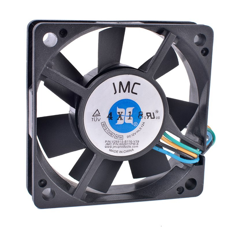 JMC 6015-12HB DC12V 0.12A 4-wire CPU cooling fan