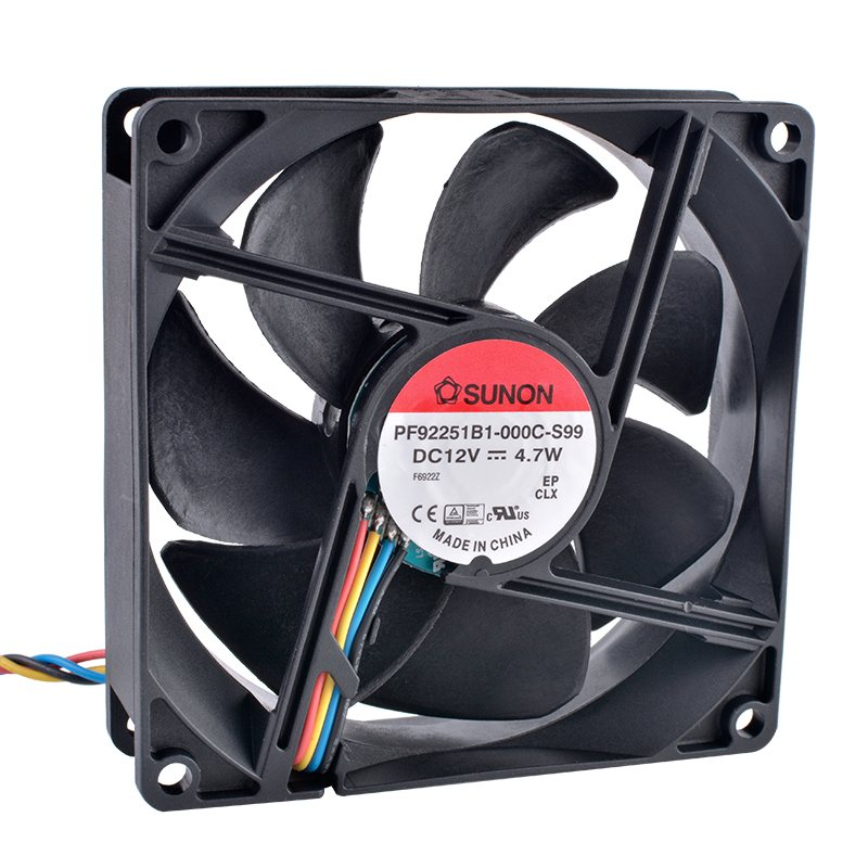SUNON PF92251B1-000C-S99  DC12V 4.7W Dual ball bearing 4-wire fan