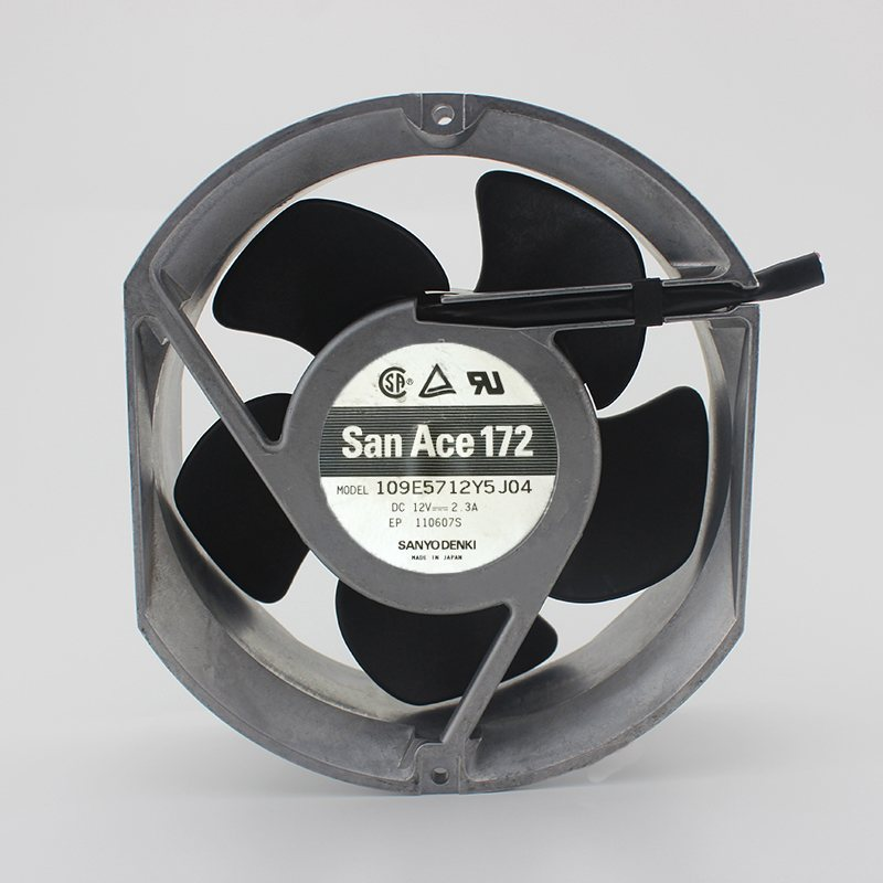 San Ace 172 109E5712Y5J04 17cm 12v 2.3A large wind metal cooling fan