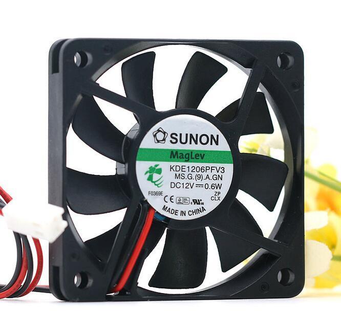 SUNON KDE1206PFV3 DC12V 0.6W  2-wire Cooling Fan