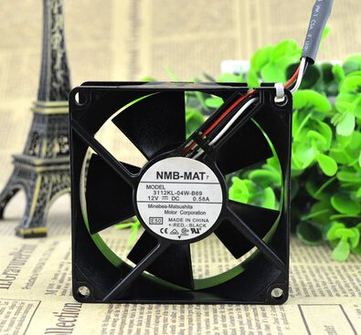NMB 3112KL-04W-B69 80*80*32MM 12V 0.58A 3lines server dual ball chassis fan