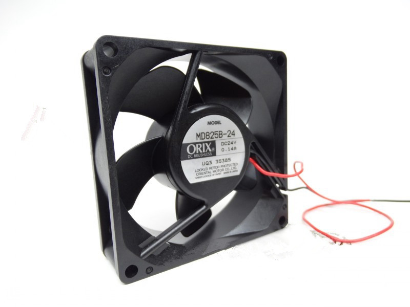 ORIX MD825B-24 DC24V 0.14A  8CM Inverter Radiator Fan