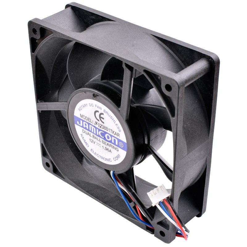 JAMICON JF1238B1TKAR DC12V 1.96A dual ball bearing cooling fan