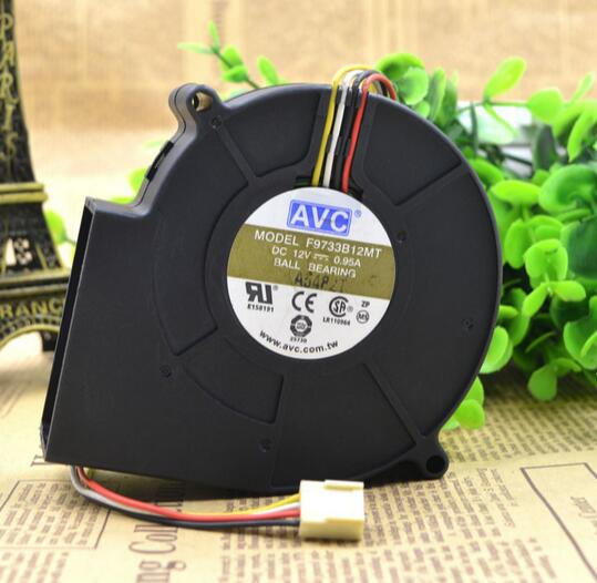 AVC F9733B12MT 12V 0.95A 4-wire blower fan