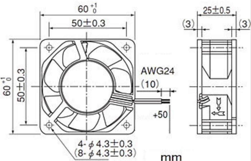 Sanyo 109R0612H402 DC12V  2wire Ball Bearing fan