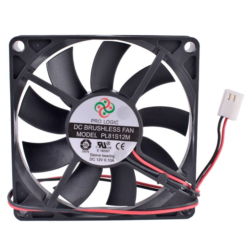 PL81S12M 80mm 12V 0.10A Computer CPU Chassis Power Ultra-quiet Cooling Fan