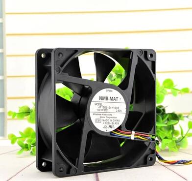 NMB 4715KL-04W-B86 12V 2.5A PE800 server 4line double ball fan