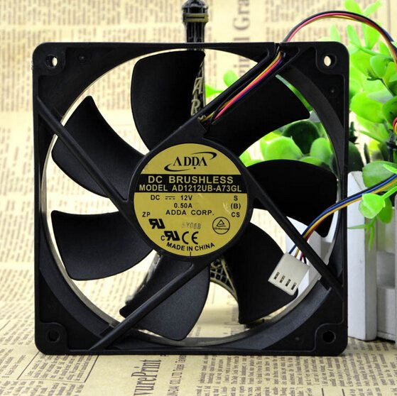 ADDA AD1212UB-A73GL 0.50A 12CM 4wire Double ball bearing cooling fan