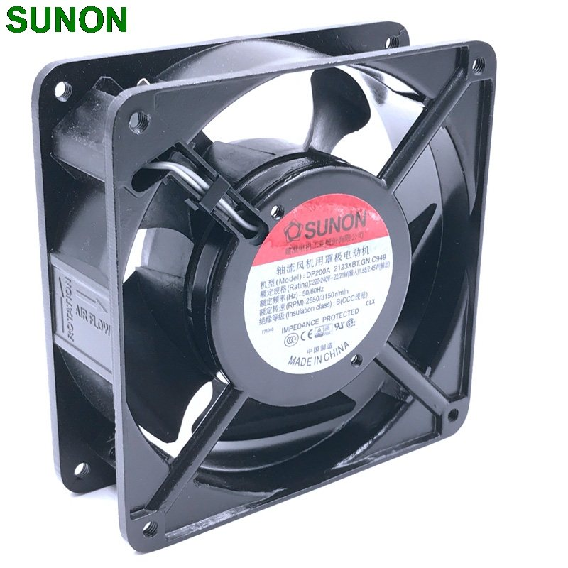 SUNON DP200A 2123XBT.GN 220V 230V 12CM socket case industrial cooling fan