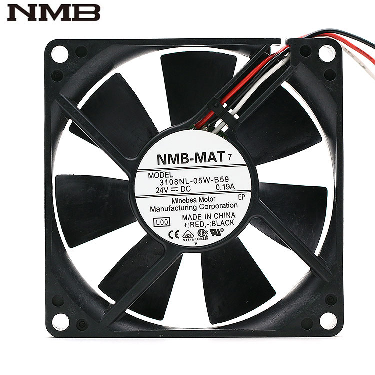 NMB 3108NL-05W-B59 80MM DC24V 0.19A Server inverter cooling fan