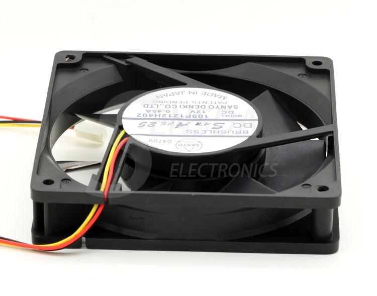 SANYO 109P1212H402 DC12V 0.45A 120x120x25mm server inverter cooling fans