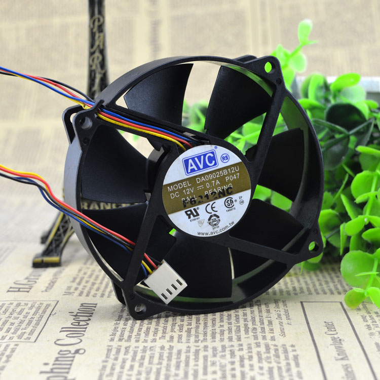 AVC DA09025B12U 12V 0.7A double ball bearing cooling fan