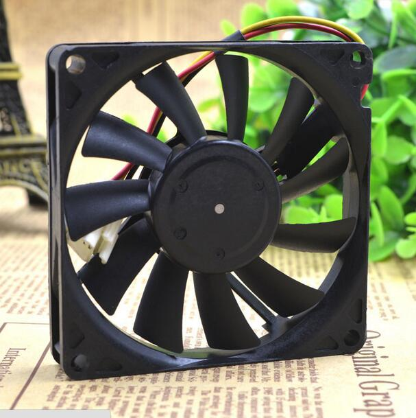 NIDEC D08R-12TS103B 80*80*15 12V 0.09A 8CM 3 wire ultra quiet cooling fan