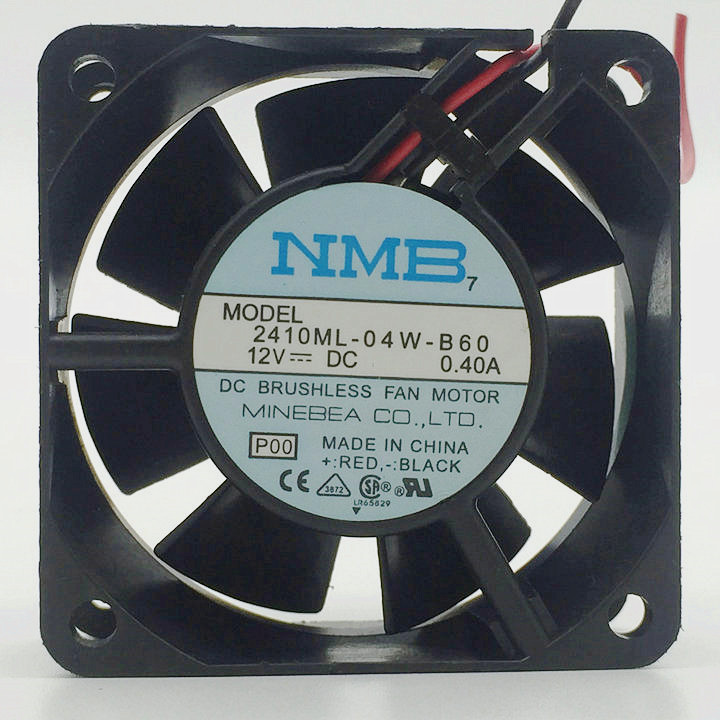 NMB-MAT  2410ML-04W-B60 12VDC 0.40A  60×60×25  fan