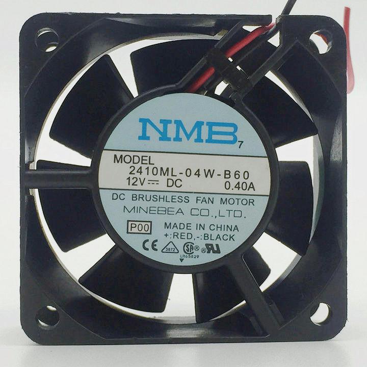 NMB-MAT  2410ML-04W-B60 12VDC 0.40A  60×60×25  fan