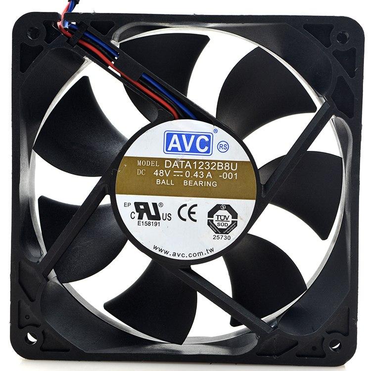 AVC DATA1232B8U -001 DC 48V 3-wire Server Square Fan