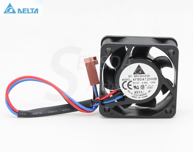 Delta AFB0412HHB DC12V 0.13A 3-pin inverter cooling fan