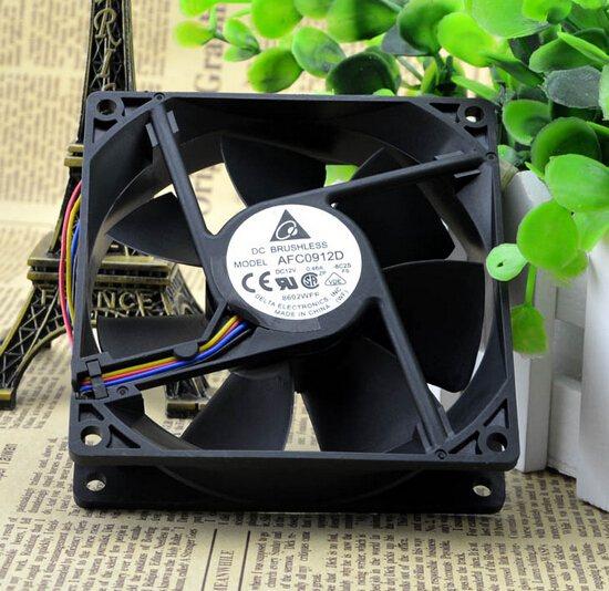 Delta AFC0912D 12V 0.46A 92*92*25 four line PWM cooling fan