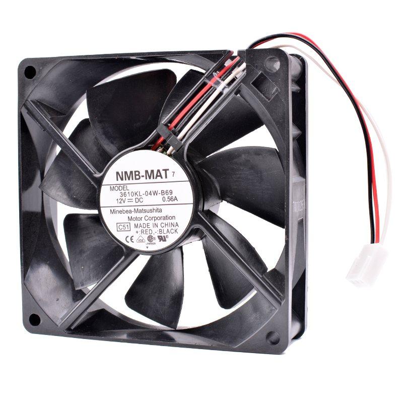 NMB 3610KL-04W-B69 12V DC 0.56A Double ball bearing fan