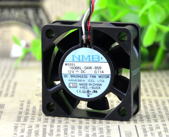 NMB 1606KL-04W-B59 12V 0.11A 40*40*15MM ball axial flow fan