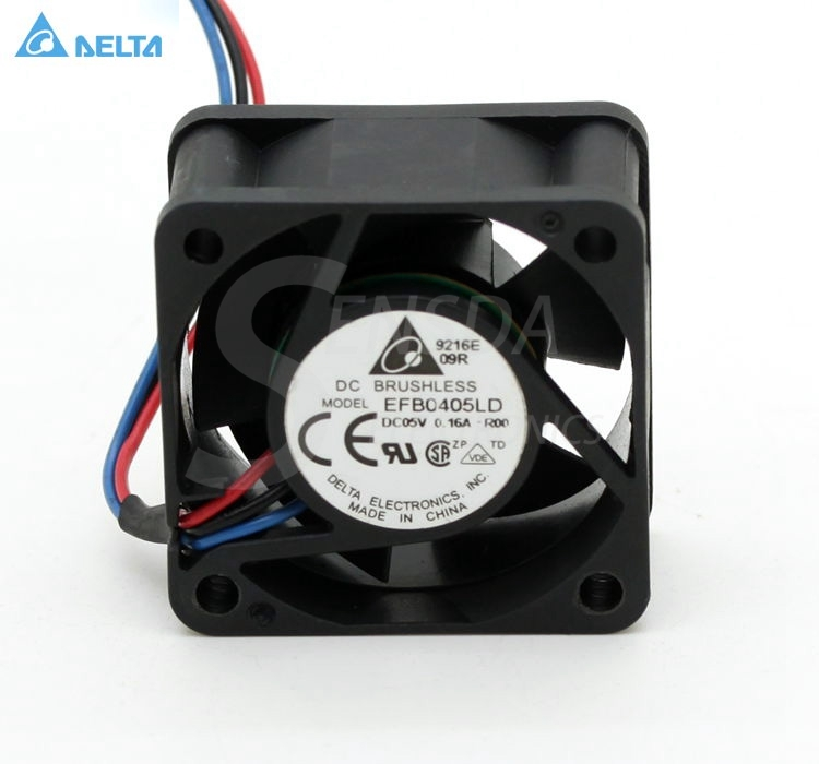 Delta EFB0405LD ROO R00 4CM DC5V 0.16A server inverter axial cooling fan