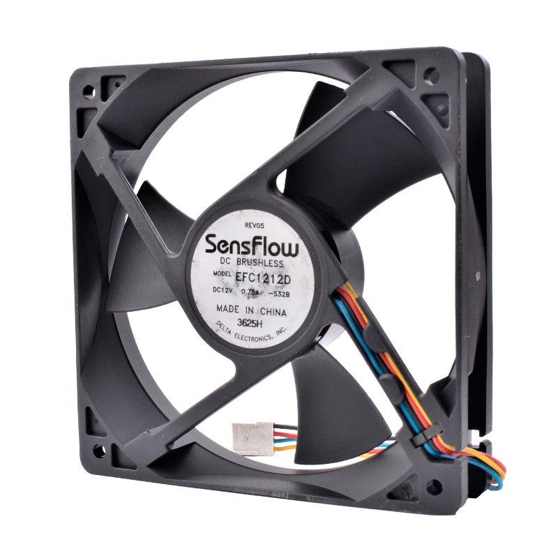 Delta EFC1212D SensFlow DC BRUSHLESS 12cm 1mm 125 12V 0.75A cooling fan