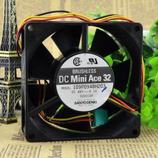 Sanyo denki  109P0948H203 DC48V  0.1A DC Mini ACE 32  BRUSHLESS fan