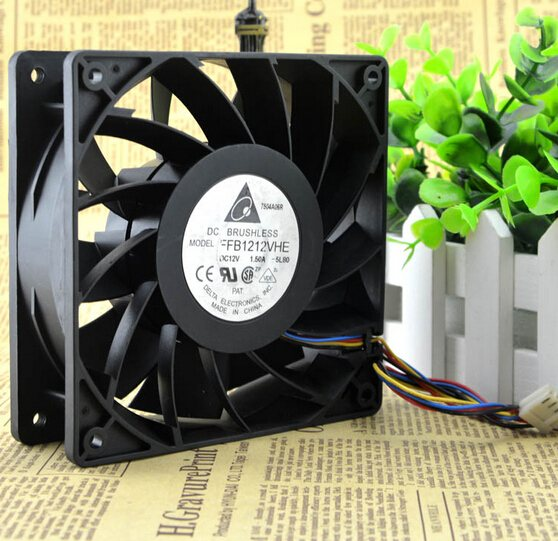 Delta FFB1212VHE 1.5A 120*120*38 12V 4pin PWM velocimetry violent fan