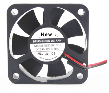 Emacro XFAN RDD5015B2 DC24V 0.18A 2-wire  Server Cooling Fan