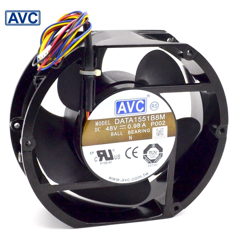 AVC  DATA1551B8M 17CM 48V 0.98A IPC wind Full Metal fan