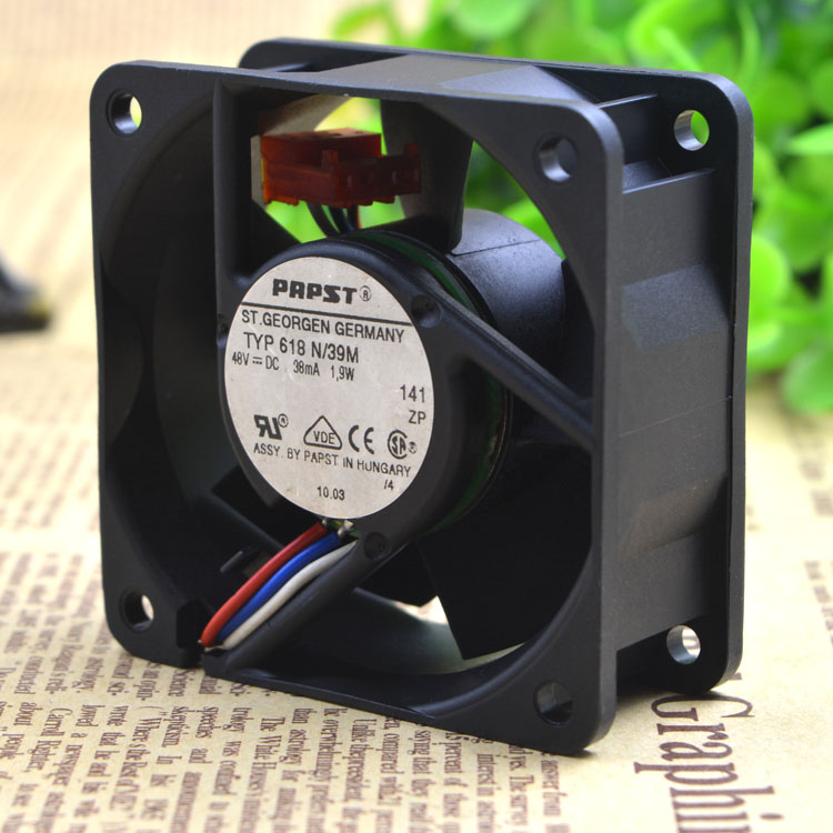 EBM PAPST 618N/39M 48V 38mA 1.9W  Inverter Cooling Fan