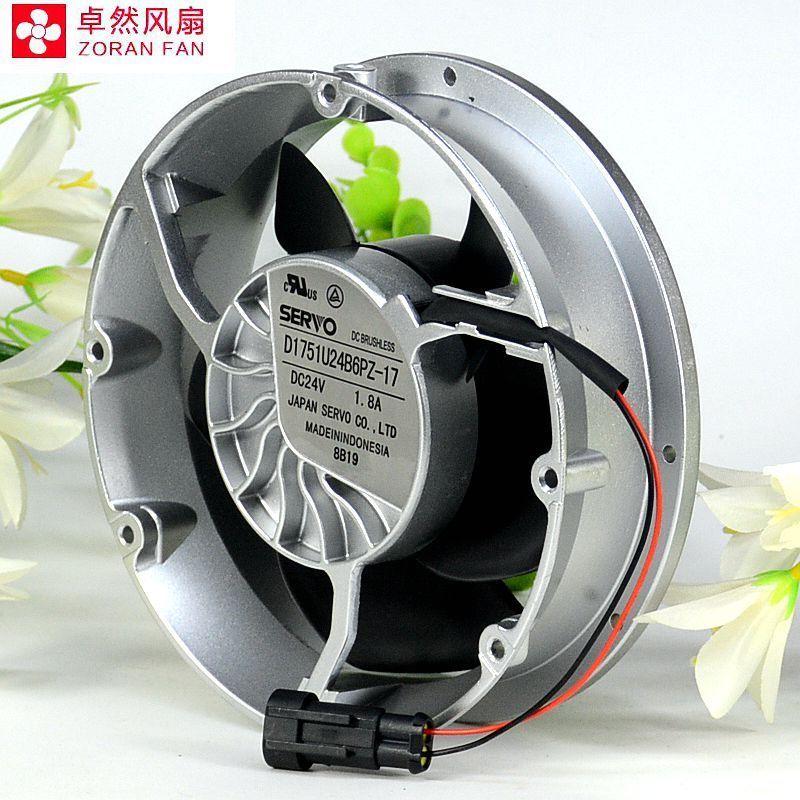 SERVO D1751U24B6PZ-17 DC24V 1.8A Inverter Axial Fan