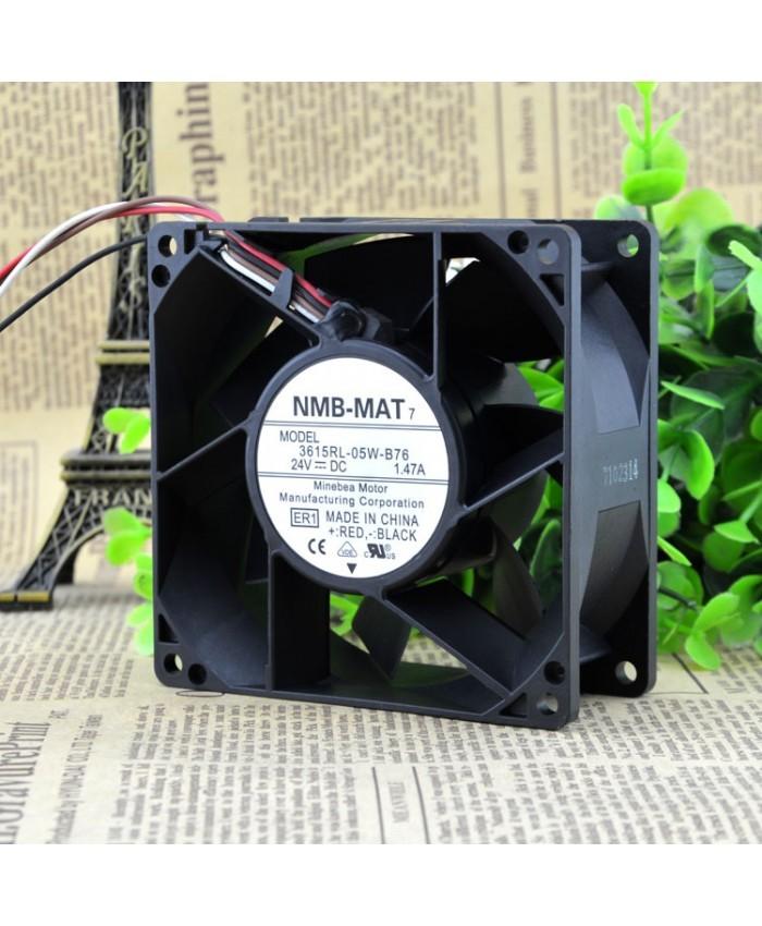 NMB 3615RL-05W-B76 DC 24V 1.47A 9CM control speed fan