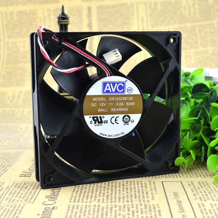 AVC DS12025B12E 120*120*25mm 4-pin  cooling fan