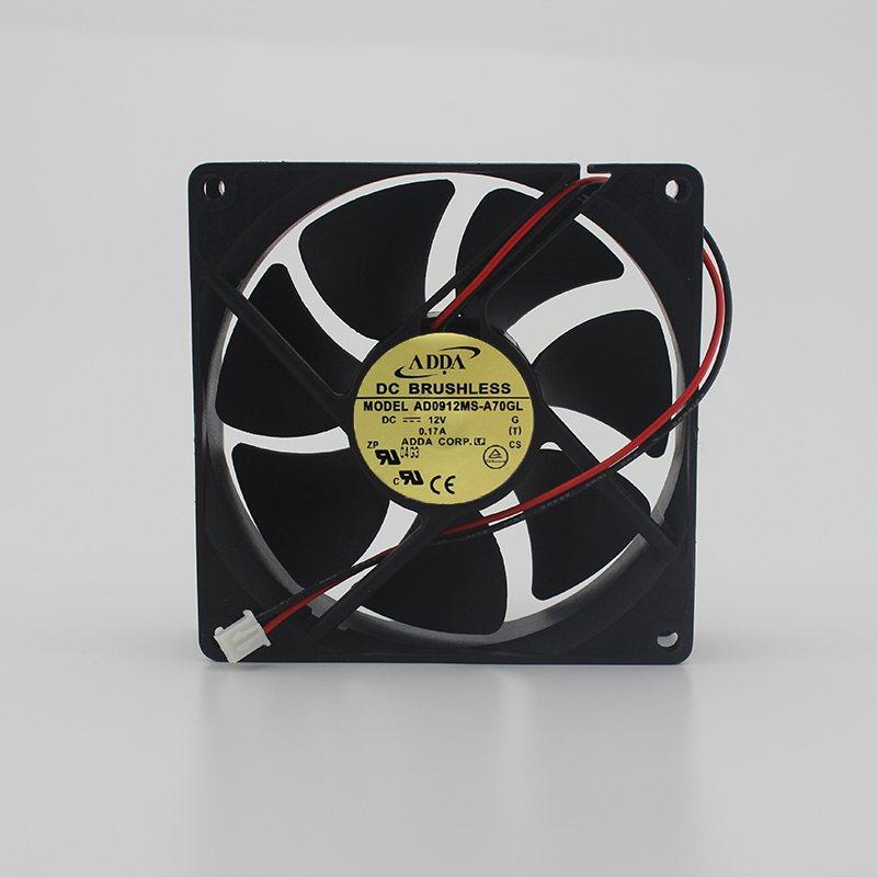 ADDA AD0912MS-A70GL 12V 0.17A 2-wire cooling fan