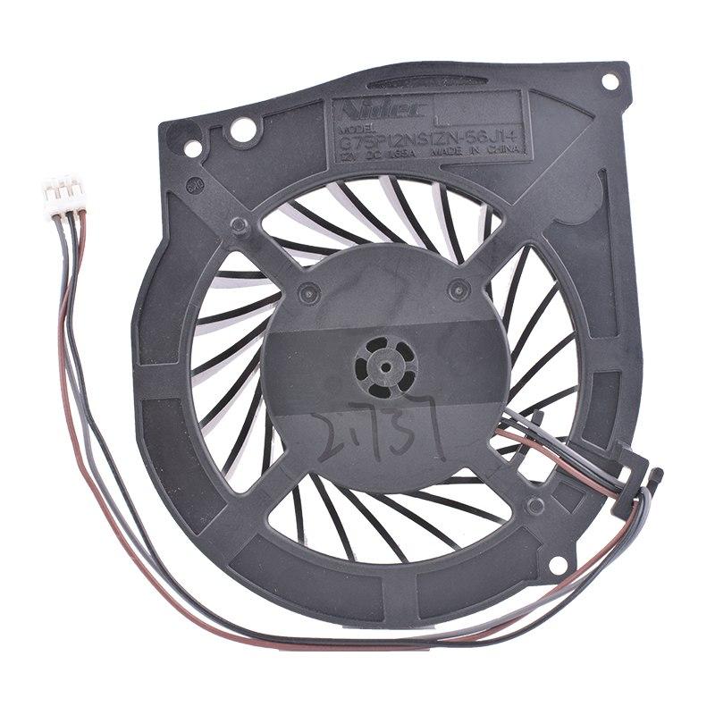 Nidec G75P12NS1ZN-56J14 12V DC 1.65A Centrifugal turbine fan