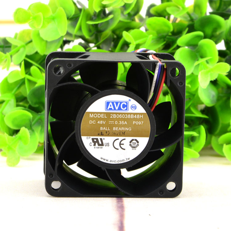 AVC 2B06038B48H DC48V 0.35A 6CM Double ball bearing cooling fan