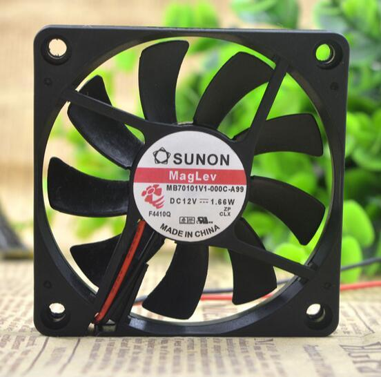 SUNON MB70101V1-000C-A99 DC12V 1.66W 2-wire cooling fan