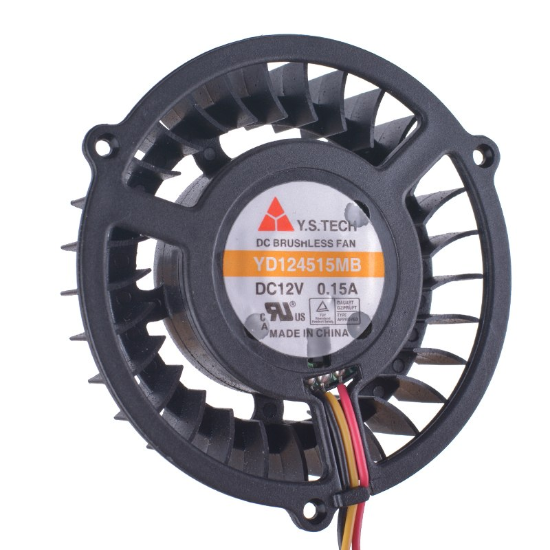 Y.S.TECH YD124515MB DC12V 0.15A DC Brushless fan