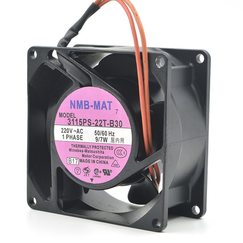 NMB  3115PS-22T-B30 AC220V 9/7W 3200RPM 2Wires 50/60HZ  Cooling Axial Fan