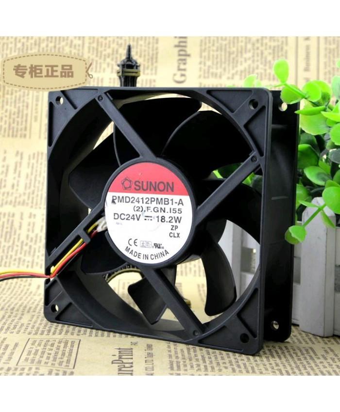 SUNON PMD2412PMB1-A 12CM 24V 18.2W 3-wires Fan