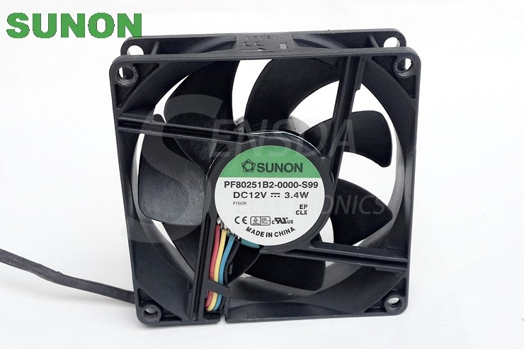 Sunon PF80251B2-0000-S99 12V 3.4W PWM tempreture control axial cooling fans