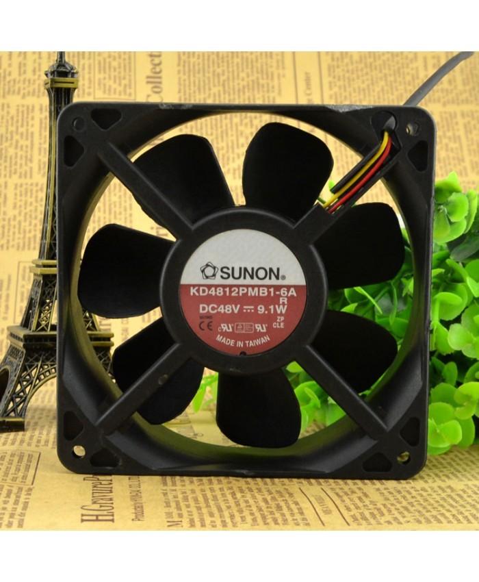 SUNON KD4812PMB1-6A DC48V 9.1W 12CM cooling fan
